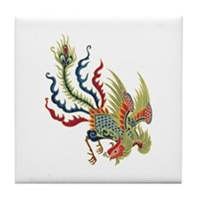 Chinese Rooster Tile Coaster