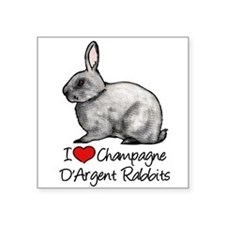 I Heart Champagne DArgent Rabbits Sticker