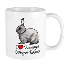 I Heart Champagne DArgent Rabbits Mugs