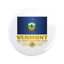 """Vermont Flag (v15) 3.5"""" Button (100 pack)"""
