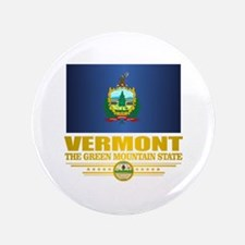 "Vermont Flag (v15) 3.5"" Button"