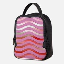 Pink Ripples Neoprene Lunch Bag