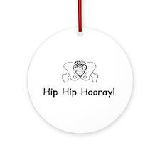 Hip Hip Hooray Ornament (Round)