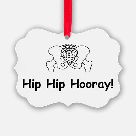 Hip Hip Hooray Ornament