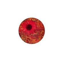 Red Daisies Mini Button