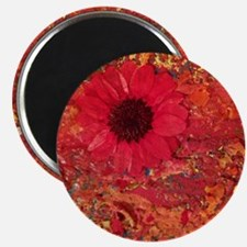 Red Daisies Magnet