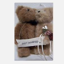 Cute Wedding bear Postcards (Package of 8)