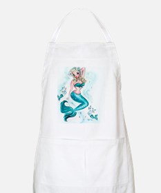 Pin Up Mermaid with Mermaid Kitties Apron