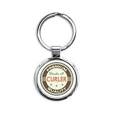 Curler Vintage Round Keychain