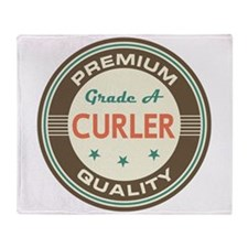 Curler Vintage Throw Blanket