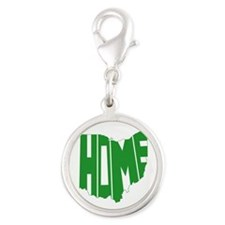 Ohio Home Silver Round Charm
