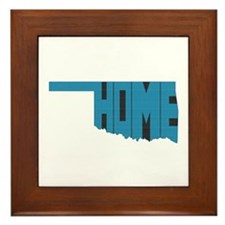 Oklahoma Home Framed Tile