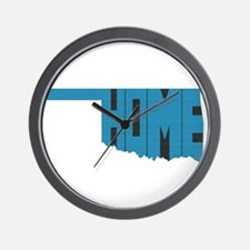 Oklahoma Home Wall Clock