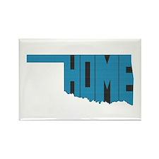 Oklahoma Home Rectangle Magnet