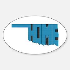 Oklahoma Home Sticker (Oval)