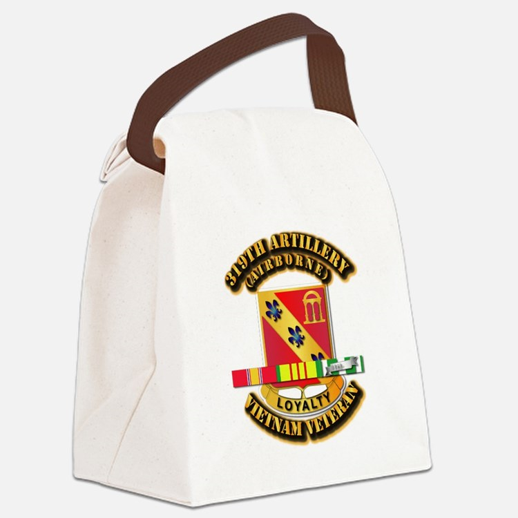 319th Field Artillery (Airborne) Canvas Lunch Bag