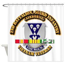 2nd Bn - 503rd Infantry (airborne) Shower Curtain
