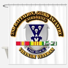 2nd Bn - 503rd Infantry (airborne) Shower Curtain