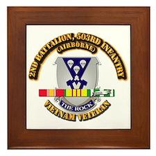 2nd Bn - 503rd Infantry (Airborne) - V Framed Tile
