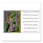 Happiness is a Butterfly Square Car Magnet 3