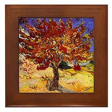 Vincent Van Gogh Mulberry Tree Framed Tile