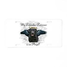 Cute Labrador angel Aluminum License Plate