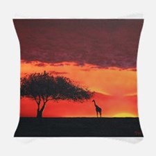 African Savannah Woven Throw Pillow