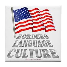 Borders Language Culture Tile Coaster
