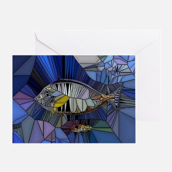 Fish mosaic 001 Greeting Card