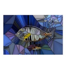 Fish mosaic 001 Postcards (Package of 8)