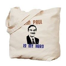 """Ron Paul is my Hero"" Tote Bag"