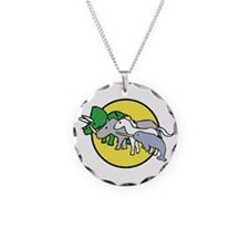 Horned Warrior Friends Necklace Circle Charm