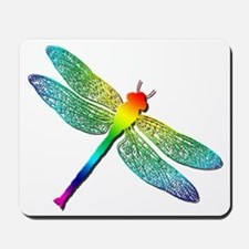 Rainbow Dragonfly Mousepad