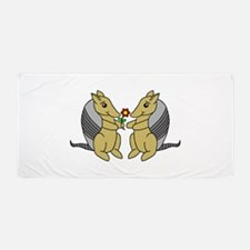 Armadillove Beach Towel