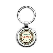 Gamer Vintage Round Keychain