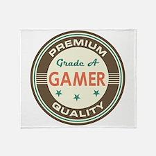 Gamer Vintage Throw Blanket