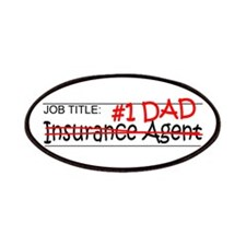 Job Dad Insurance Agent Patches