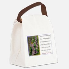 Happiness is a Butterfly Canvas Lunch Bag