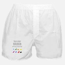 Ten Types Of People (Dinosaurs) Boxer Shorts