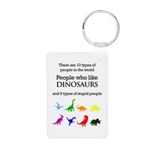 Ten Types Of People (Dinosaurs) Keychains