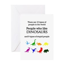 Ten Types Of People (Dinosaurs) Greeting Cards
