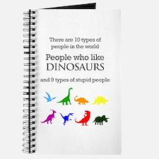 Ten Types Of People (Dinosaurs) Journal
