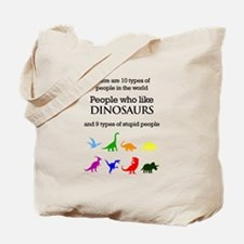 Ten Types Of People (Dinosaurs) Tote Bag