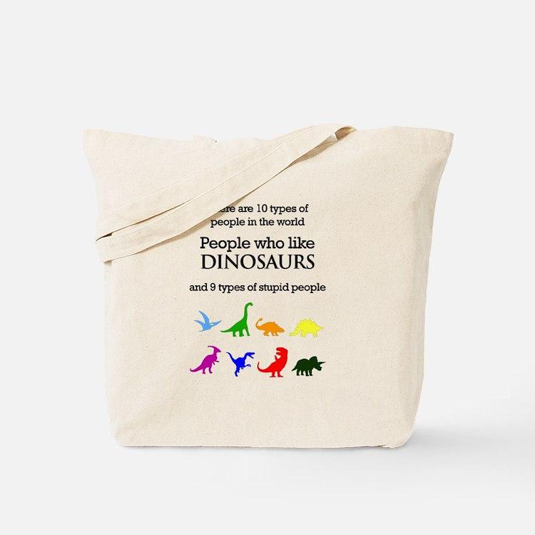 Ten Types Of People (Dinosaurs) Tote Bag