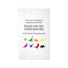 Ten Types Of People (Dinosaurs) 3'x5' Area Rug