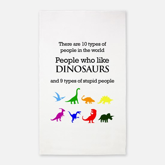 Ten Types Of People (Dinosaurs) 3'x5' Area Rug