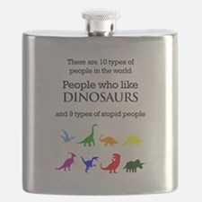 Ten Types Of People (Dinosaurs) Flask