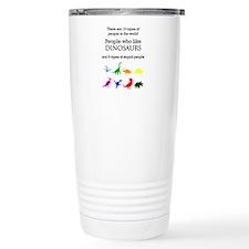 Ten Types Of People (Dinosaurs) Travel Mug
