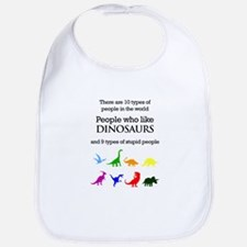 Ten Types Of People (Dinosaurs) Bib