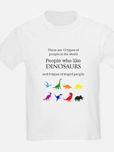 Ten Types Of People (Dinosaurs) T-Shirt